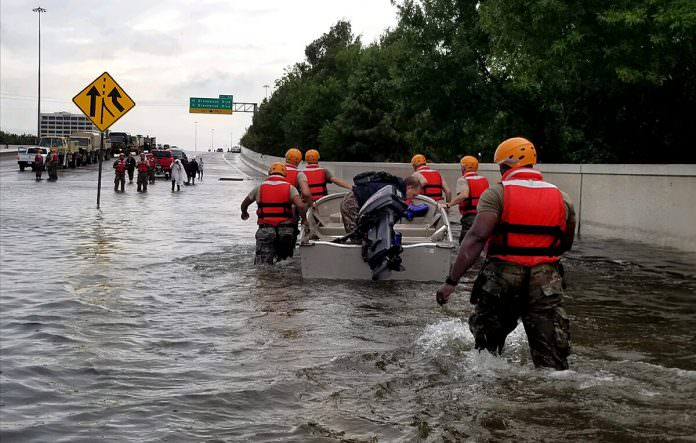 National Guard helps Hurricane Harvey victims