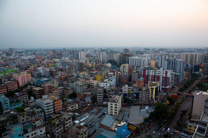 City of Bangladesh aerial view