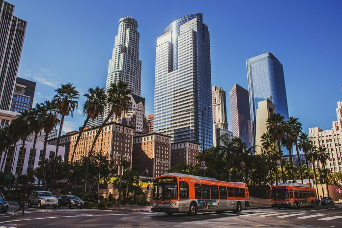 Downtown Los Angeles city