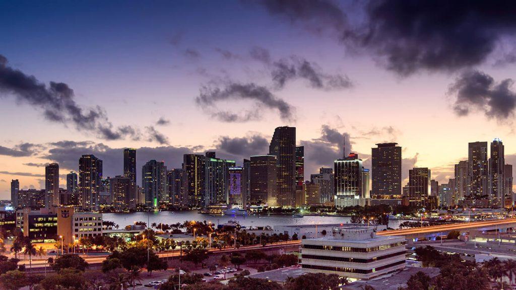 City skyline with buildings